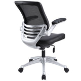 Modway Modern Edge Leather Adjustable Computer Office Chair - Minimal & Modern - 3