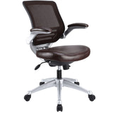 Modway Modern Edge Leather Adjustable Computer Office Chair - Minimal & Modern - 5