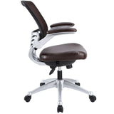 Modway Modern Edge Leather Adjustable Computer Office Chair - Minimal & Modern - 6