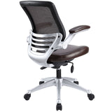 Modway Modern Edge Leather Adjustable Computer Office Chair - Minimal & Modern - 7