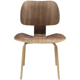 Modway Furniture Fathom Modern Dining Side Chair Walnut, Dining Chairs - Modway Furniture, Minimal & Modern - 4