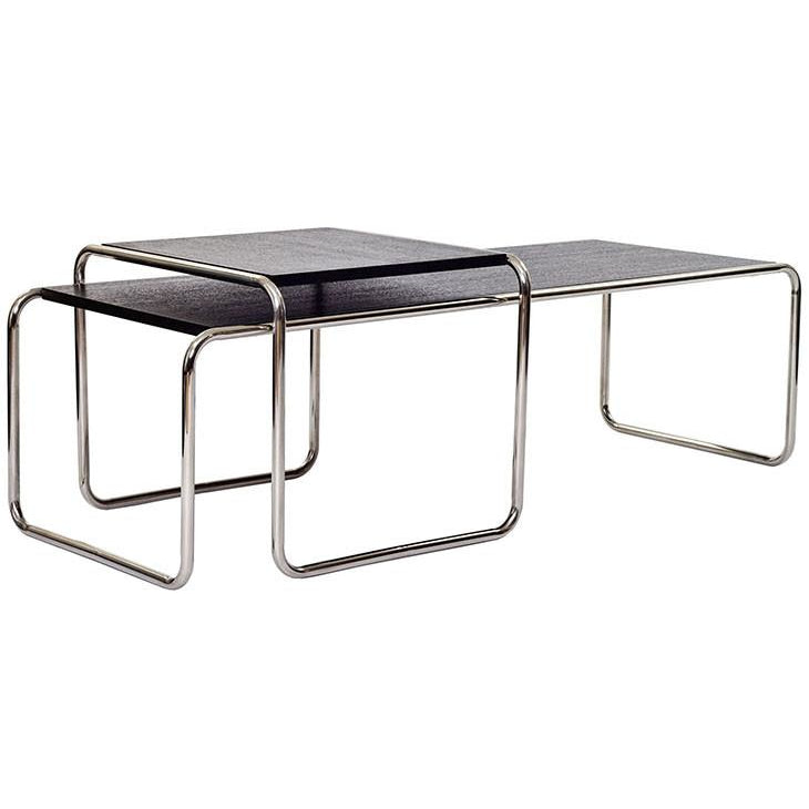 Modway Furniture Metal Blox Wood Top Coffee Table in Black EEI-628-BLK-Minimal & Modern