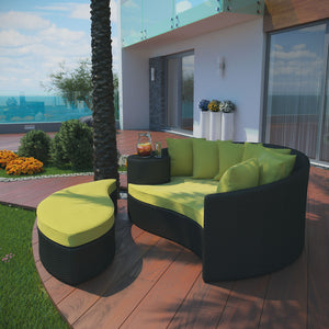 Modway Furniture Modern Taiji Outdoor Patio Wicker Daybed - EEI-645