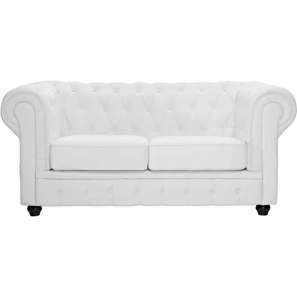 Modway Furniture Chesterfield Loveseat White, Loveseat - Modway Furniture, Minimal & Modern - 1