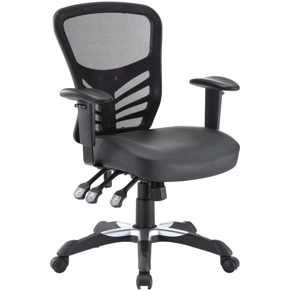 Modway Modern Articulate Vinyl Adjustable Computer Office Chair - Minimal & Modern - 1