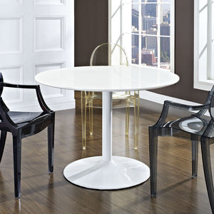 Modway Furniture Revolve Modern White Dining Table EEI-785-WHI-Minimal & Modern