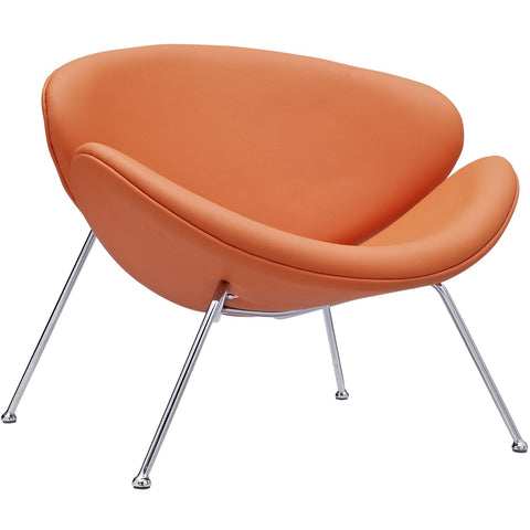Modway Furniture Modern Nutshell Lounge Chair Orange, Chairs - Modway Furniture, Minimal & Modern - 1