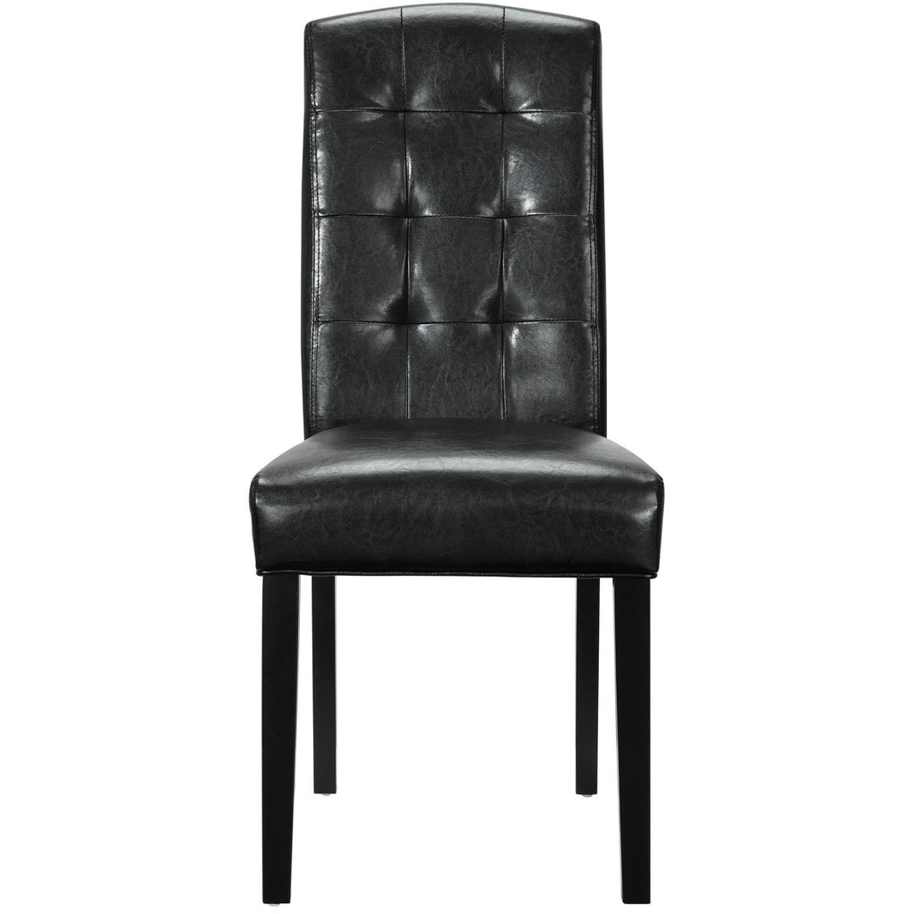 Modway Furniture Perdure Modern Black Dining Side Chair , Dining Chairs - Modway Furniture, Minimal & Modern - 1