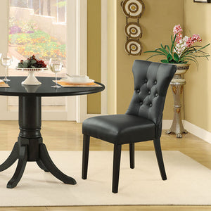 Modway Furniture Modern Silhouette Dining Vinyl Side Chair EEI-812-Minimal & Modern
