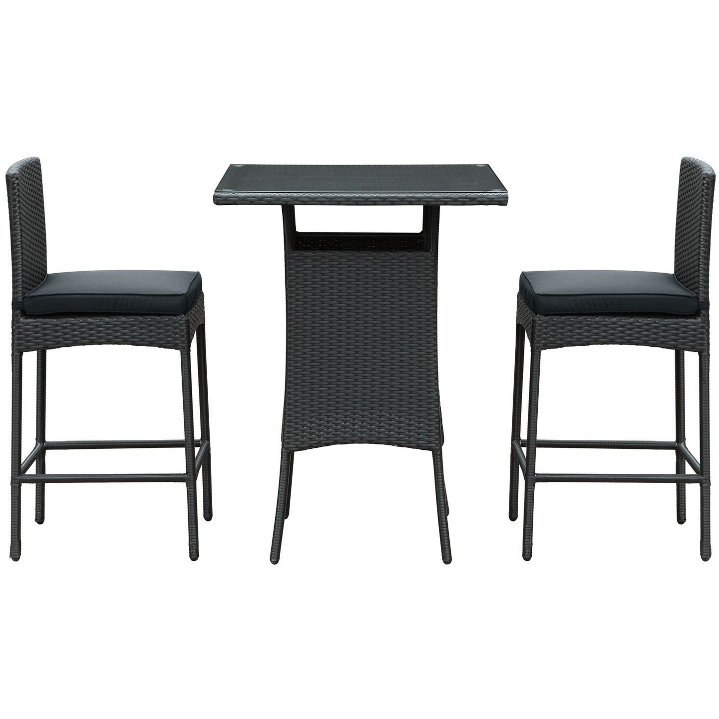 Modway Furniture Cerveza 3 Piece Outdoor Patio Pub Set , Bar and Dining - Modway Furniture, Minimal & Modern - 1