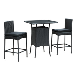 Modway Furniture Cerveza 3 Piece Outdoor Patio Pub Set , Bar and Dining - Modway Furniture, Minimal & Modern - 2