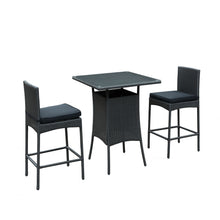 Modway Furniture Cerveza 3 Piece Outdoor Patio Pub Set EEI-835-BLK-BLK-SET-Minimal & Modern