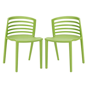 Modway Furniture Modern Curvy Dining Chairs Set of 2 - EEI-935