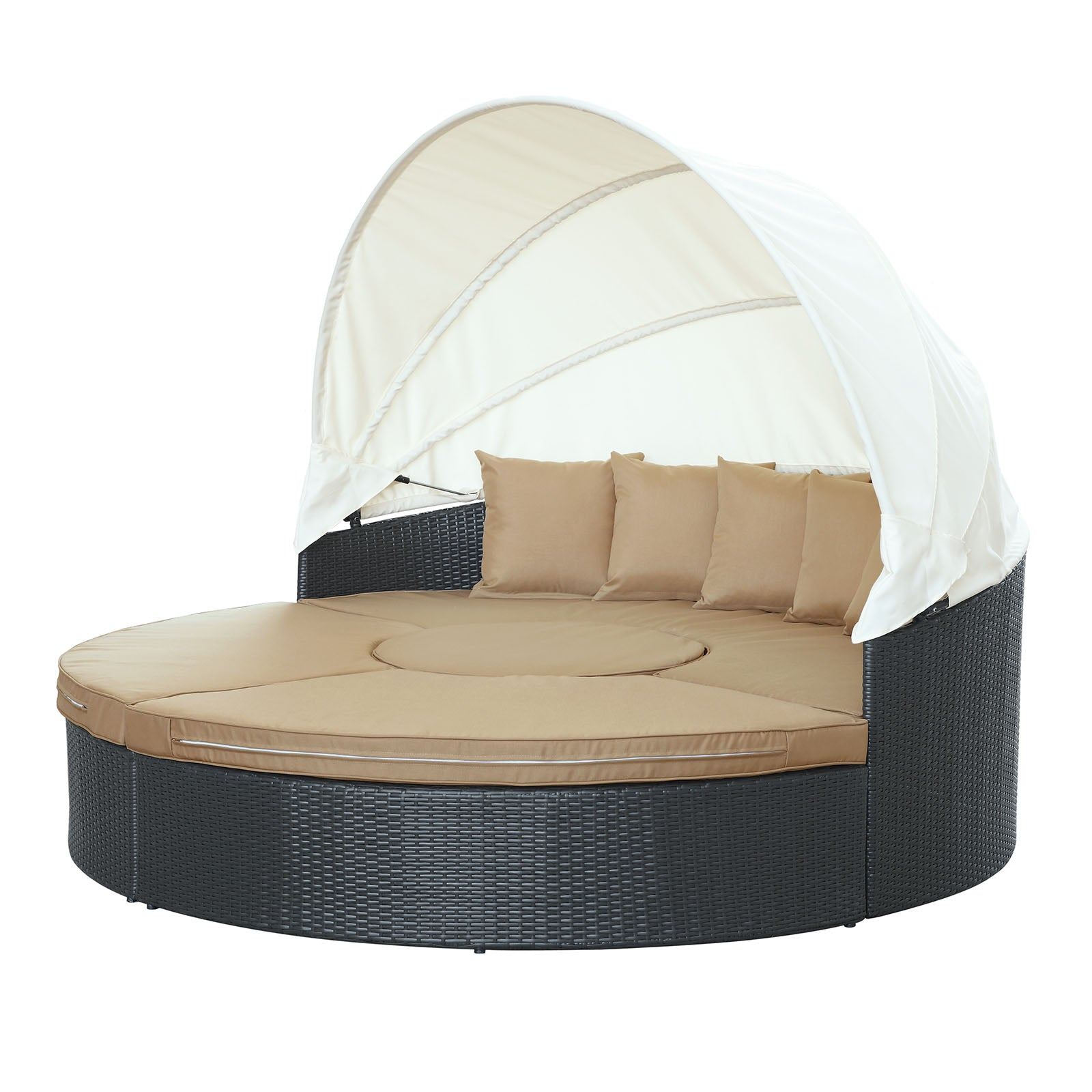Modway furniture modern quest canopy outdoor patio daybed eei 983