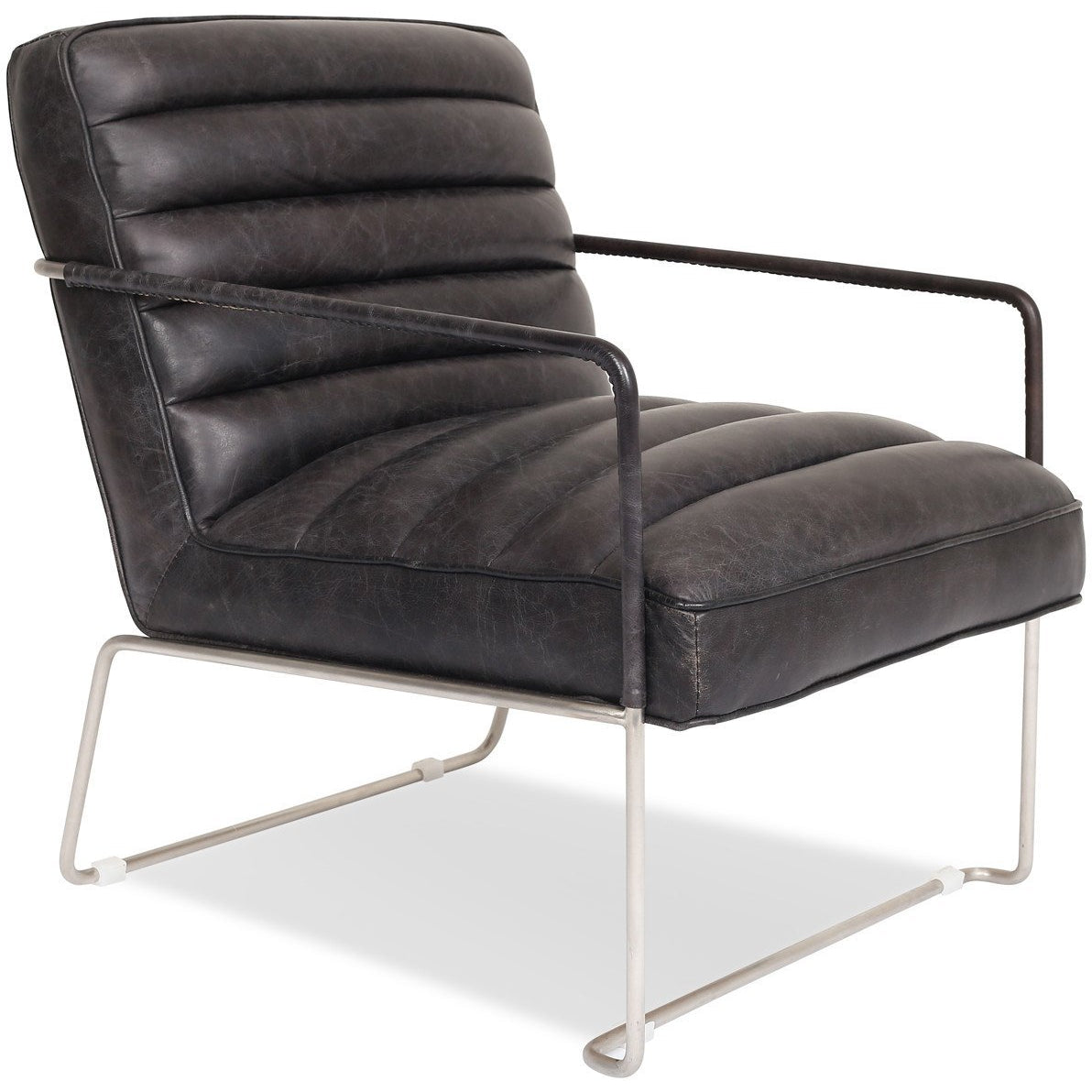 Edloe Finch Kennedy Modern Leather Accent Chair