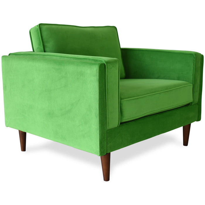 Edloe Finch Madison Mid-Century Modern Velvet Accent Chair