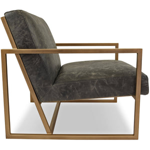 Edloe Finch Henri Leather Accent Chair