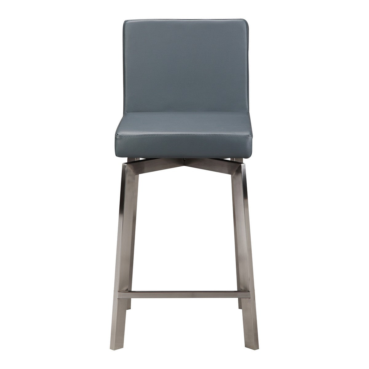 Moe's Home Collection Giro Swivel Counter Stool Grey - EH-1039-25 - Moe's Home Collection - Counter Stools - Minimal And Modern - 1
