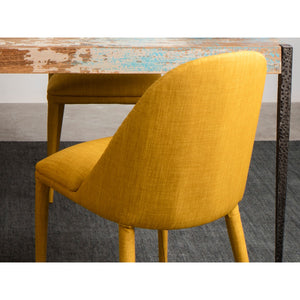 Moe's Home Collection Libby Dining Chair Yellow-Set of Two - EH-1100-09 - Moe's Home Collection - Dining Chairs - Minimal And Modern - 1
