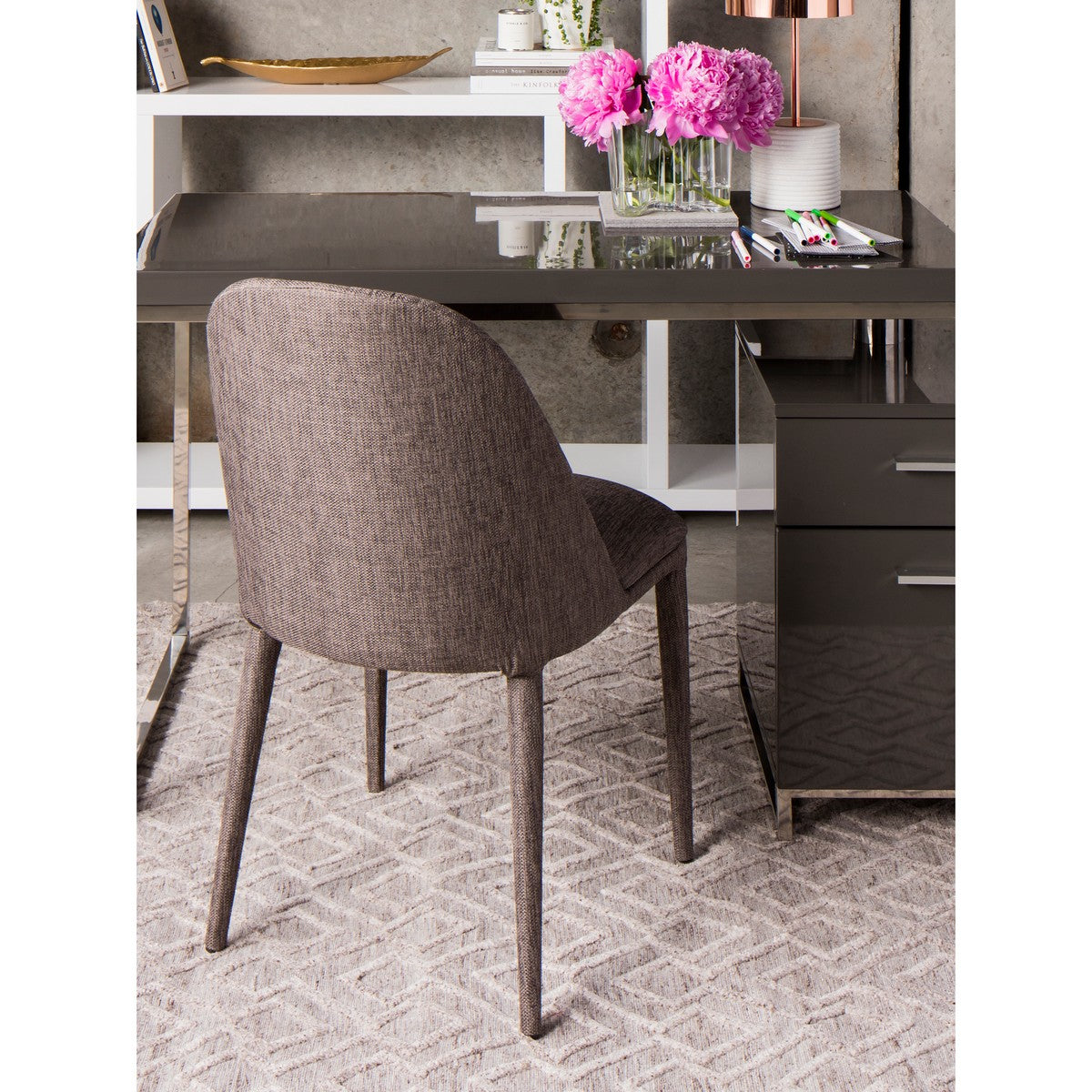 Moe's Home Collection Libby Dining Chair Grey-Set of Two - EH-1100-45 - Moe's Home Collection - Dining Chairs - Minimal And Modern - 1