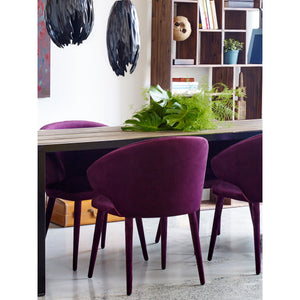 Moe's Home Collection Stewart Dining Chair Purple - EH-1104-10 - Moe's Home Collection - Dining Chairs - Minimal And Modern - 1