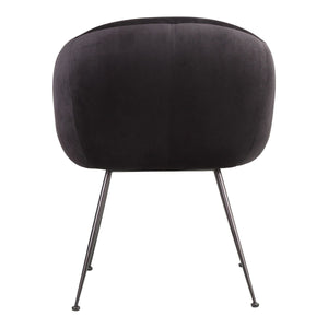 Moe's Home Collection Clover Dining Chair Black - EH-1108-02