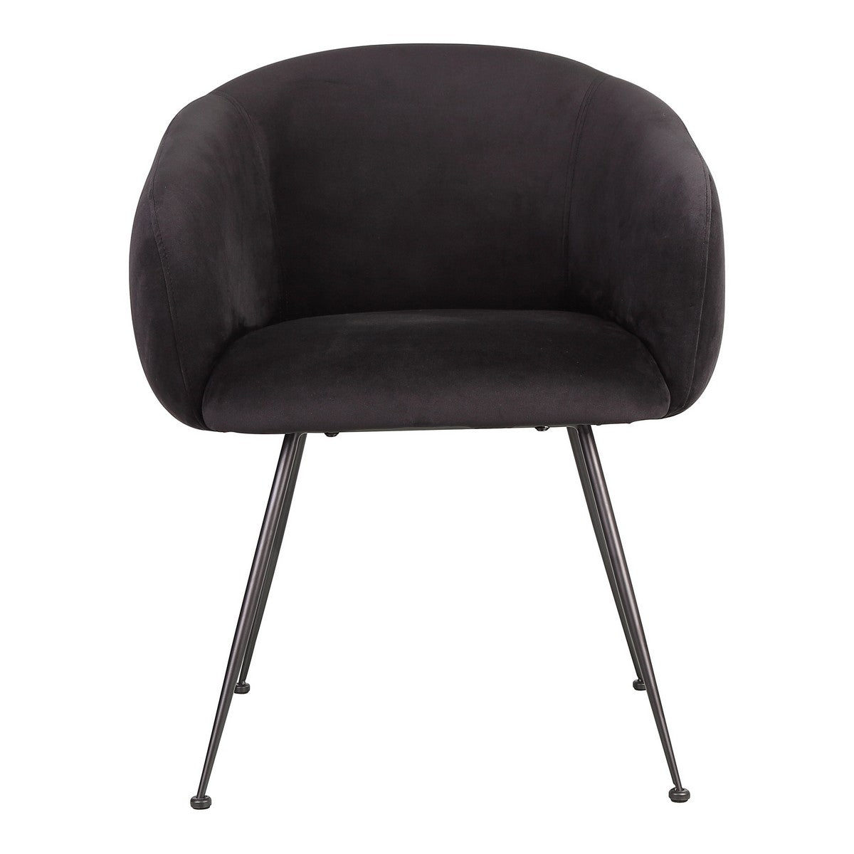 Moe's Home Collection Clover Dining Chair Black - EH-1108-02 - Moe's Home Collection - Dining Chairs - Minimal And Modern - 1