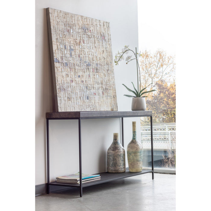 MOE'S HOME COLLECTION MAKRANA MARBLE CONSOLE TABLE - EI-1045-15-Minimal & Modern