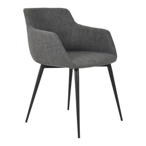 Moe's Home Collection Ronda Arm Chair Grey-Set of Two - EJ-1016-25