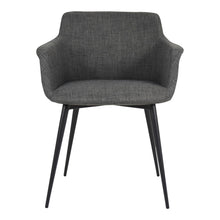 Moe's Home Collection Ronda Arm Chair Grey-Set of Two - EJ-1016-25 - Moe's Home Collection - Dining Chairs - Minimal And Modern - 1