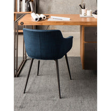Moe's Home Collection Ronda Arm Chair Blue-Set of Two - EJ-1016-26 - Moe's Home Collection - Dining Chairs - Minimal And Modern - 1