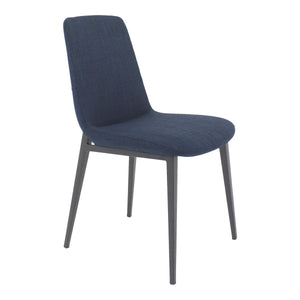 Moe's Home Collection Kito Dining Chair Blue-Set of Two - EJ-1017-26