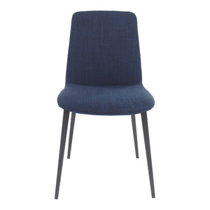 Moe's Home Collection Kito Dining Chair Blue-Set of Two - EJ-1017-26 - Moe's Home Collection - Dining Chairs - Minimal And Modern - 1