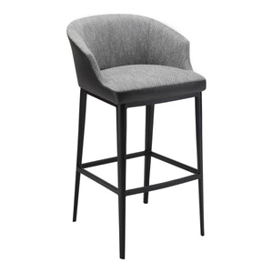 Moe's Home Collection Beckett Barstool Grey - EJ-1029-15