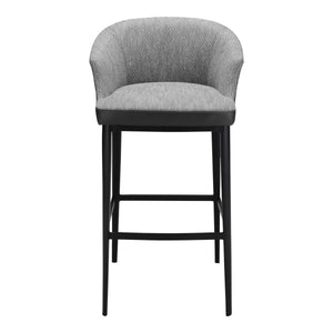 Moe's Home Collection Beckett Barstool Grey - EJ-1029-15 - Moe's Home Collection - Bar Stools - Minimal And Modern - 1