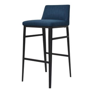 Moe's Home Collection Baron Barstool Blue - EJ-1032-26
