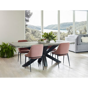 Moe's Home Collection Sedona Dining Chair Pink Velvet-Set of Two - EJ-1034-33