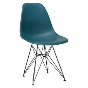 Lanna Furniture Fah Black Side Chair Black / Teal, Dining Chairs - Lanna Furniture, Minimal & Modern - 18