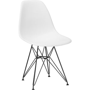 Lanna Furniture Fah Black Side Chair (Set of 2) Black / White, Dining Chairs - Lanna Furniture, Minimal & Modern - 1
