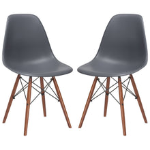 Lanna Furniture Finne Side Chair Walnut Legs (Set of 2)-Minimal & Modern