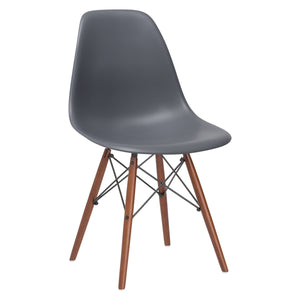 Lanna Furniture Finne Side Chair Walnut Legs (Set of 4) Grey, Dining Chairs - Lanna Furniture, Minimal & Modern - 10
