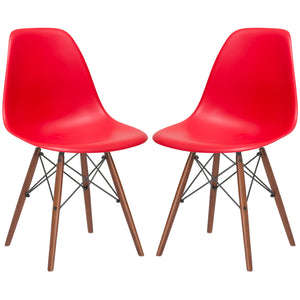 Lanna Furniture Finne Side Chair Walnut Legs (Set of 2) Red, Dining Chairs - Lanna Furniture, Minimal & Modern - 17