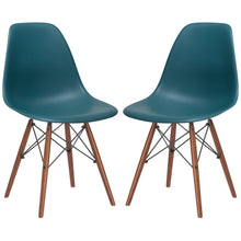 Lanna Furniture Finne Side Chair Walnut Legs (Set of 2) Teal, Dining Chairs - Lanna Furniture, Minimal & Modern - 27