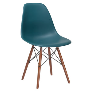 Lanna Furniture Finne Side Chair Walnut Legs (Set of 4) Teal, Dining Chairs - Lanna Furniture, Minimal & Modern - 22