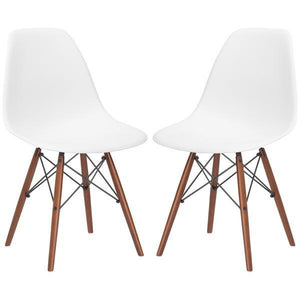 Edgemod Modern Vortex Side Chair Walnut Base (Set of 2)-Minimal & Modern