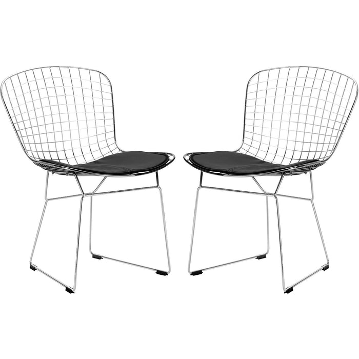 Lanna Furniture Wanz Side Chair (Set of 2)-Minimal & Modern