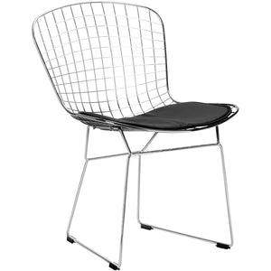 Lanna Furniture Wanz Side Chair Black, Dining Chairs - Lanna Furniture, Minimal & Modern - 1