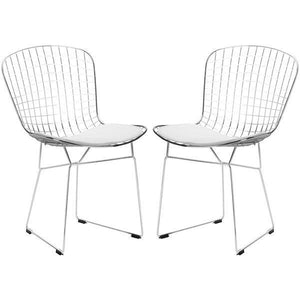 Edgemod Modern Morph Side Chair (Set of 2) White, Dining Chairs - Edgemod Furniture, Minimal & Modern - 2