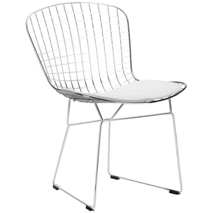 Lanna Furniture Wanz Side Chair White, Dining Chairs - Lanna Furniture, Minimal & Modern - 6