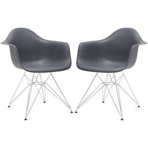 Lanna Furniture Lanna Arm Chair (Set of 2)-Minimal & Modern